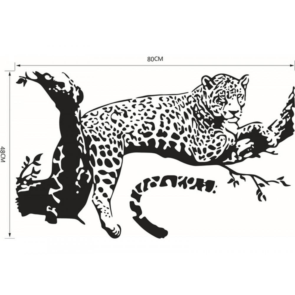 Children room wall sticker decall decor Leopard