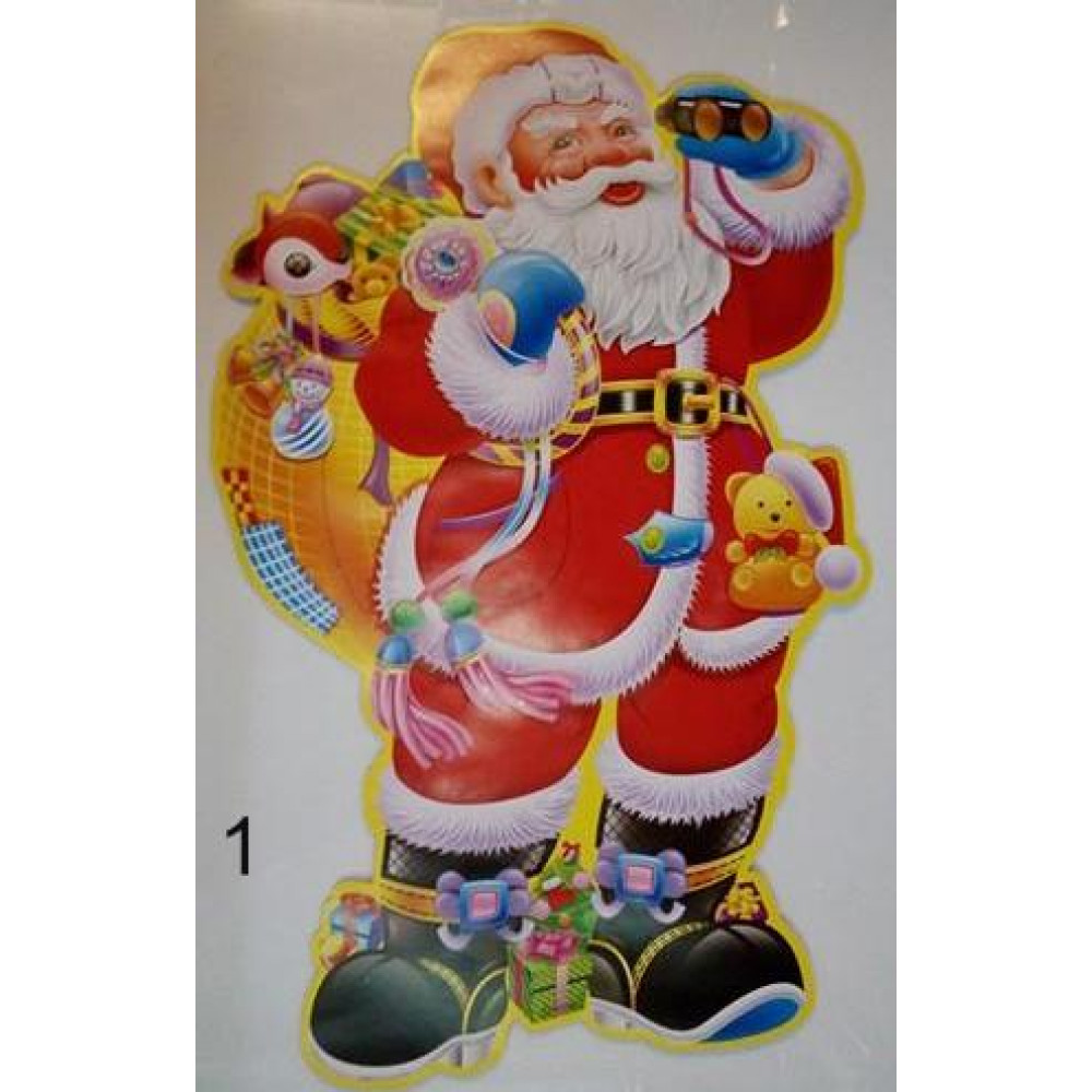 3D wall decor Santa Claus sticker