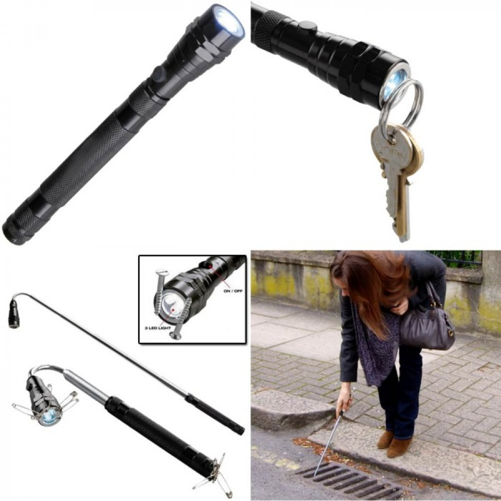 Telescopic LED magnetic torch
