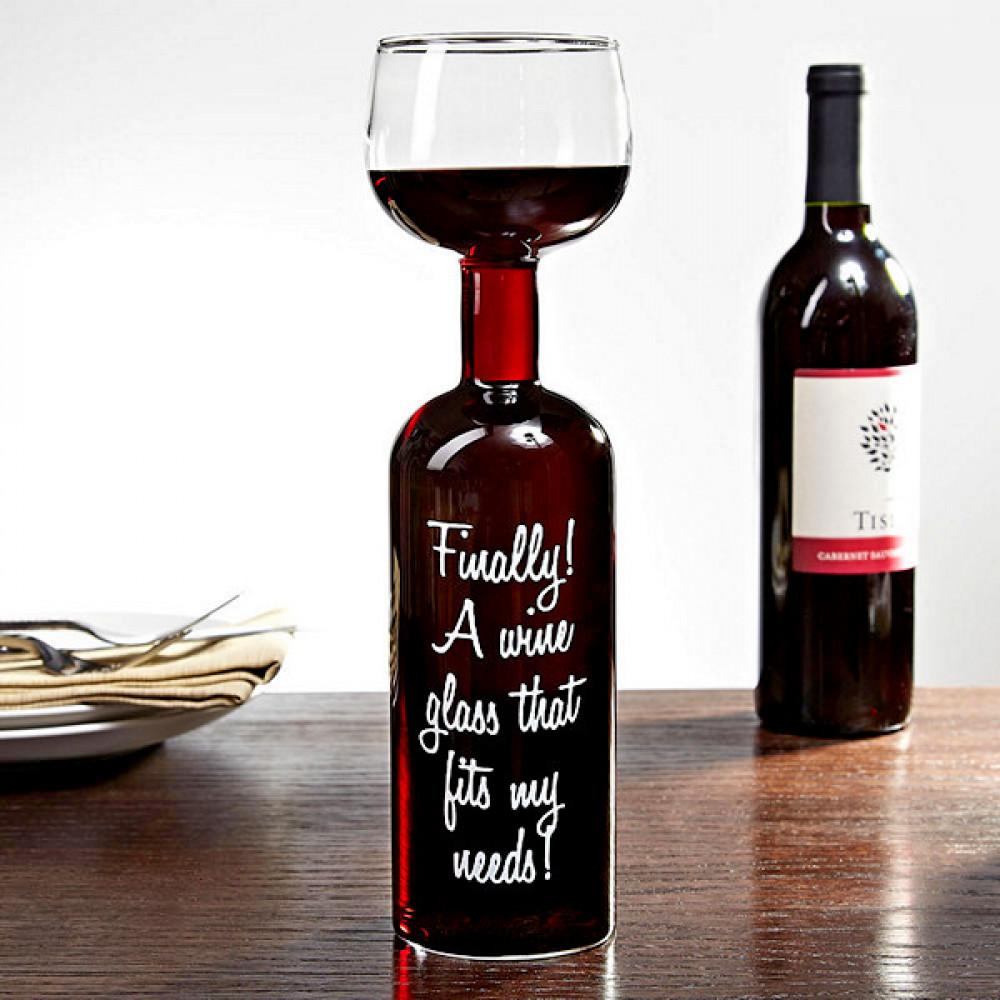 Vīna glāze - pudele