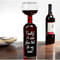 Guzzle Buddy Wine Glass - Bottle