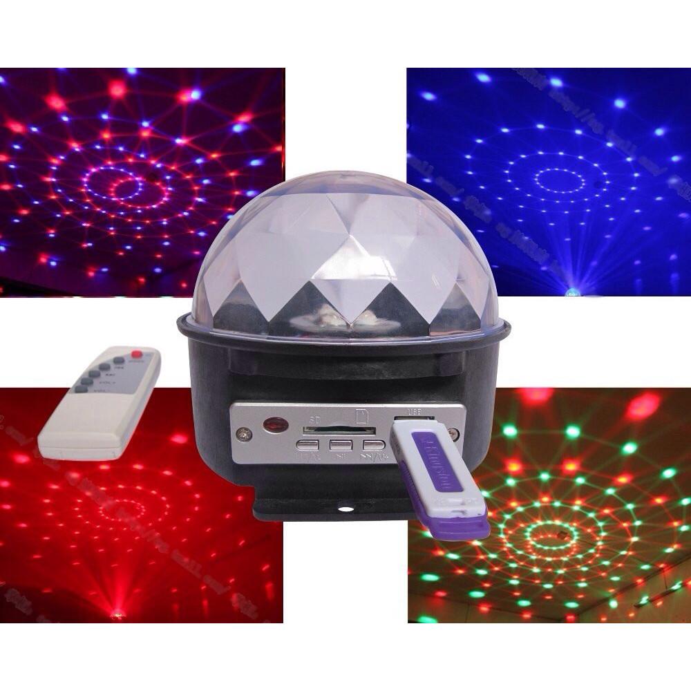 Gaismas diožu disko bumba LED Crystal Magic Ball Light