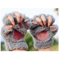 Ladies Winter Fingerless Cat Gloves
