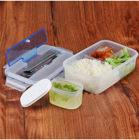 Conveninet Modern Ecofriendly Outdoor Portable Microwave Lunch Box with Soup Bowl Chopstick
