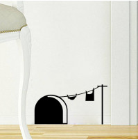 Mouse Home Sticker Wall Decor