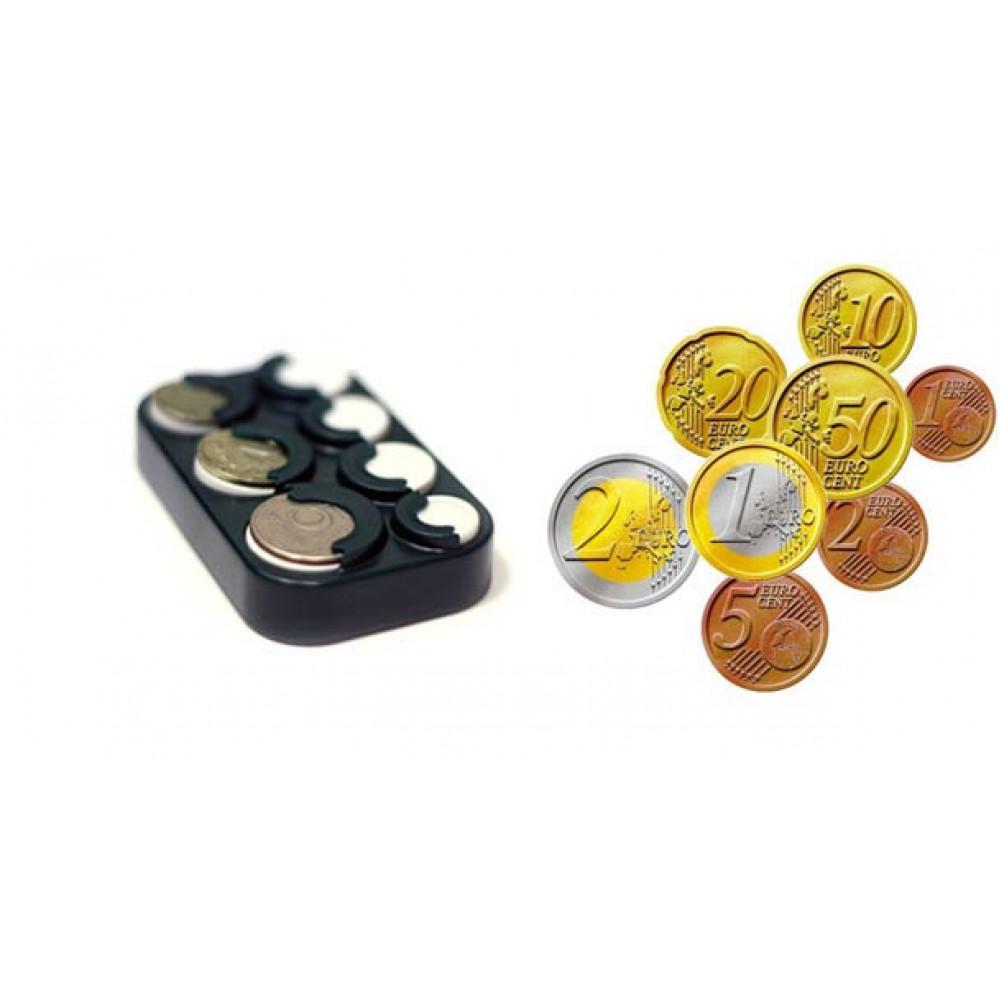 Ergonomisks monētu turētājs eiro monētām