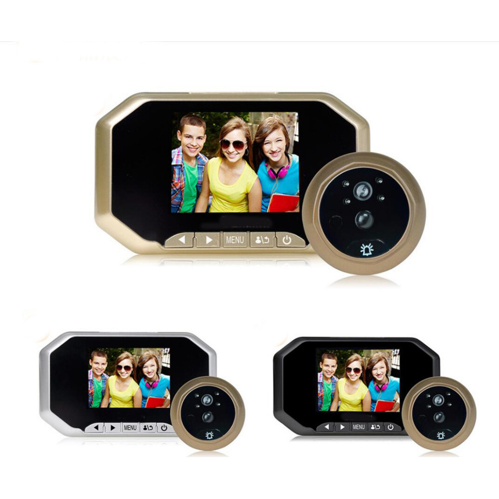 160° Video-Eye Display with TF recording and Doorbell PIR VIDEO EYE