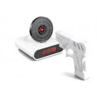 Alarm Clock with infra red gun and target