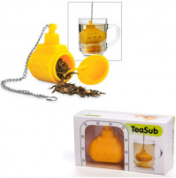 Yellow submarine tea strainer