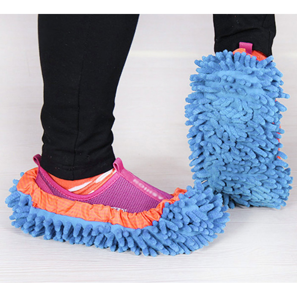 Chenille Mopping Slippers Quick Home Pair Floor Polishing Dusting Practical Cleaning Shoes
