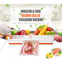 220V Household Food Vacuum Sealer Packaging Machine Film Sealer Vacuum Packer Including 15Pcs Bags