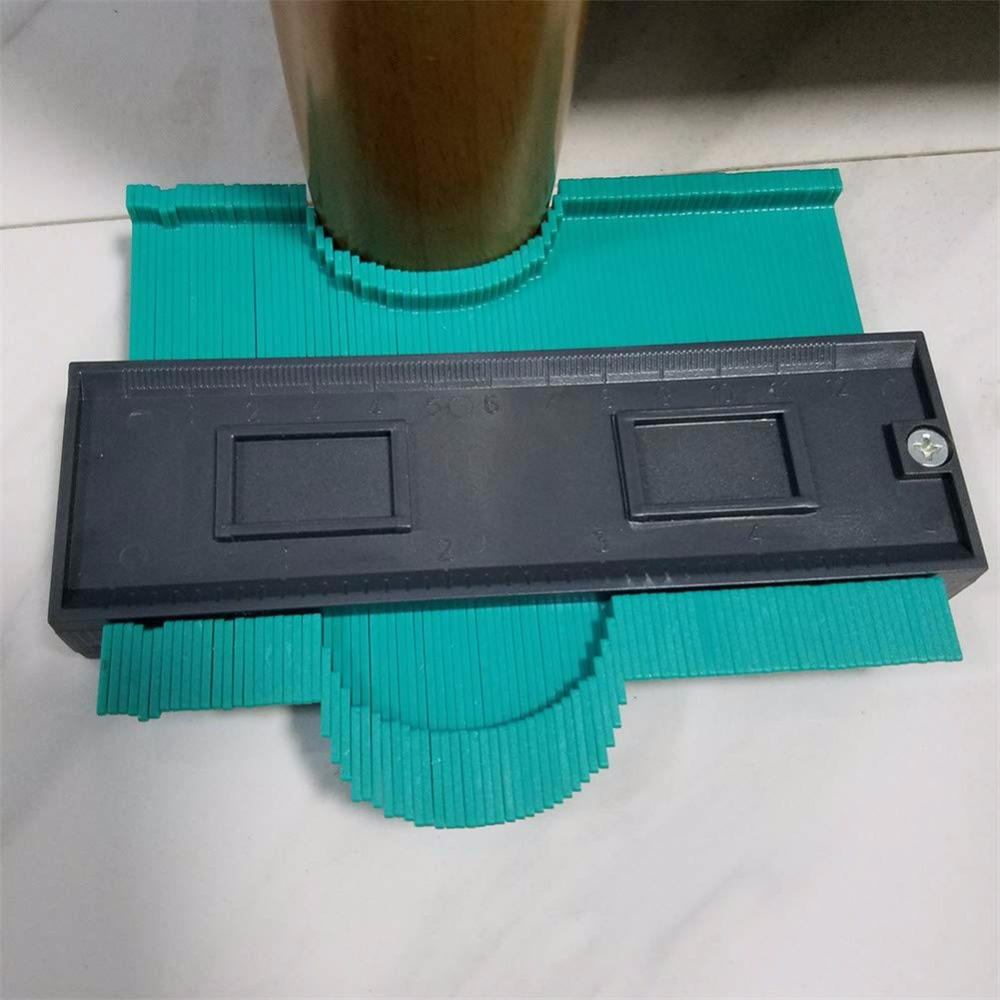 120mm Duplicator Ducts Tool Fine Tooth Wood Marking Winding Pipe Profile Gauge Contour Copy Laminate Universal Plastic