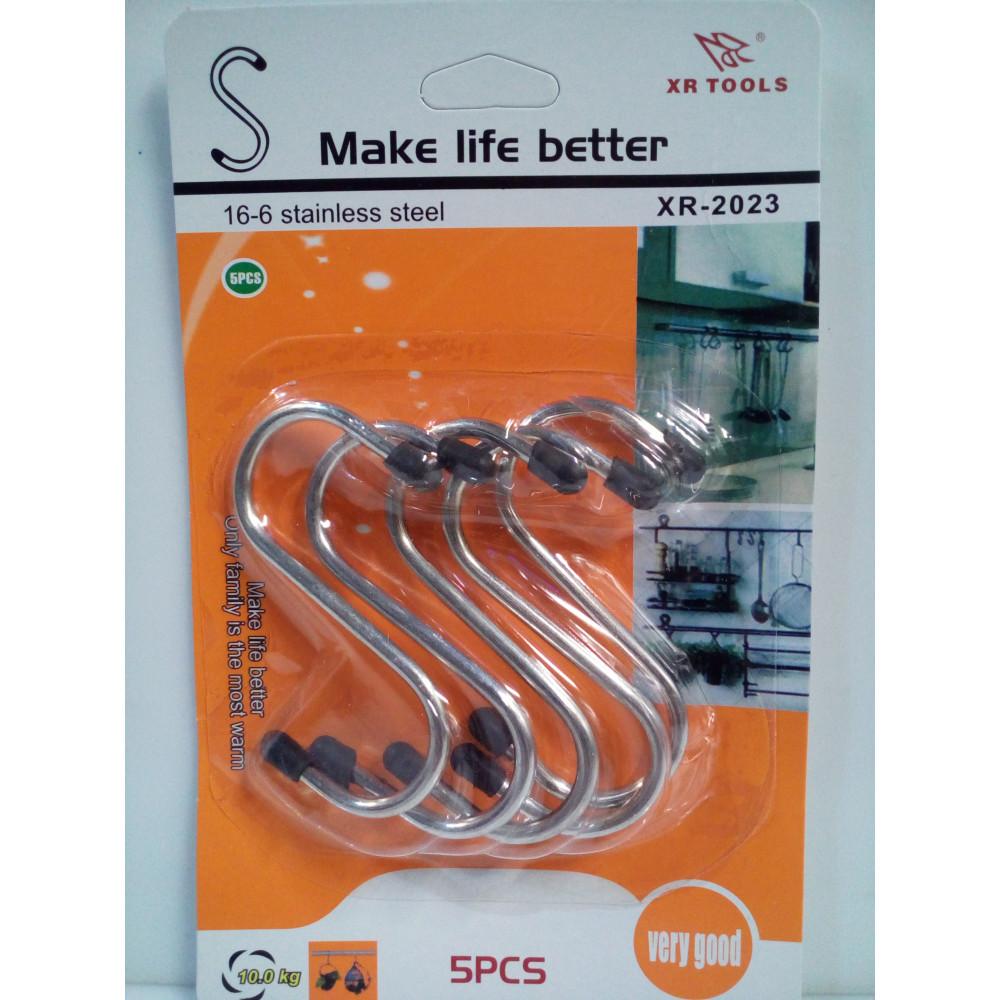 Steel hooks kit for furniture