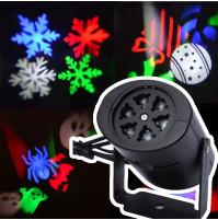 Lazera gaismas projektors ar maināmiem displeju ieliktņiem