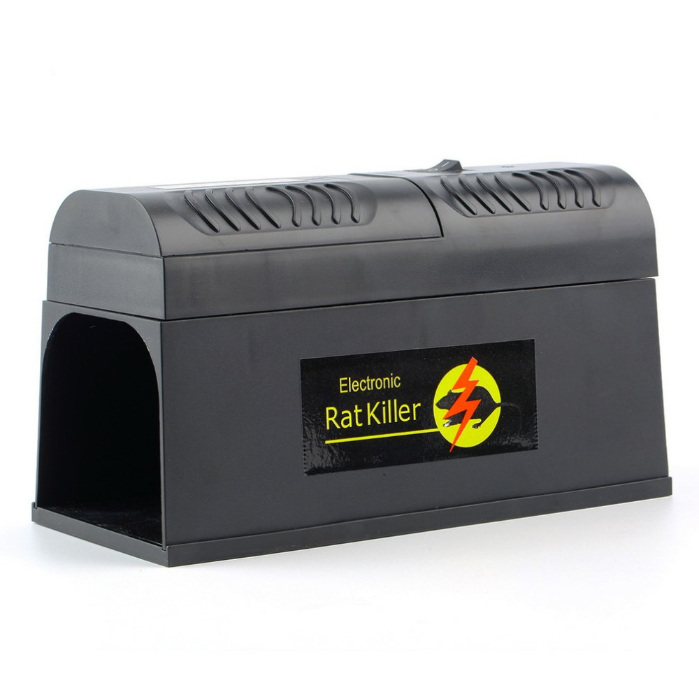 Electric rat and mouse trap - high voltage electric current rodent killer
