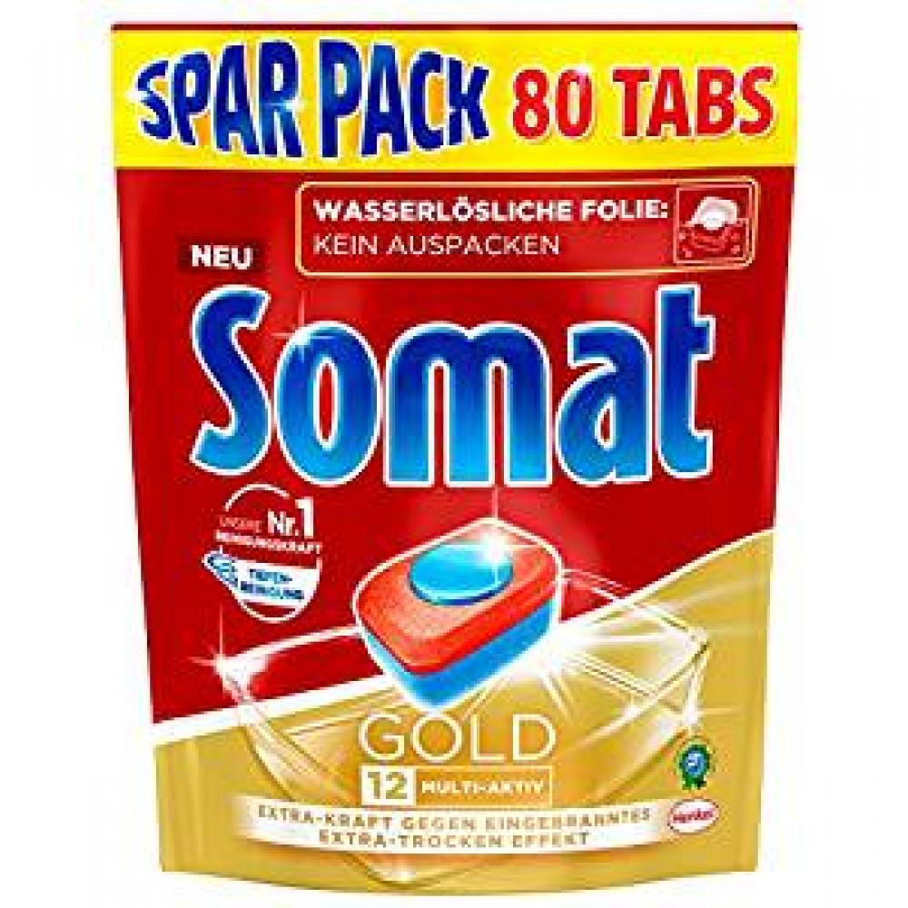 Somat 12 Gold tabletes trauku mašīnai - Ekonomisks iepakojums - 80 gab - izdevīgi