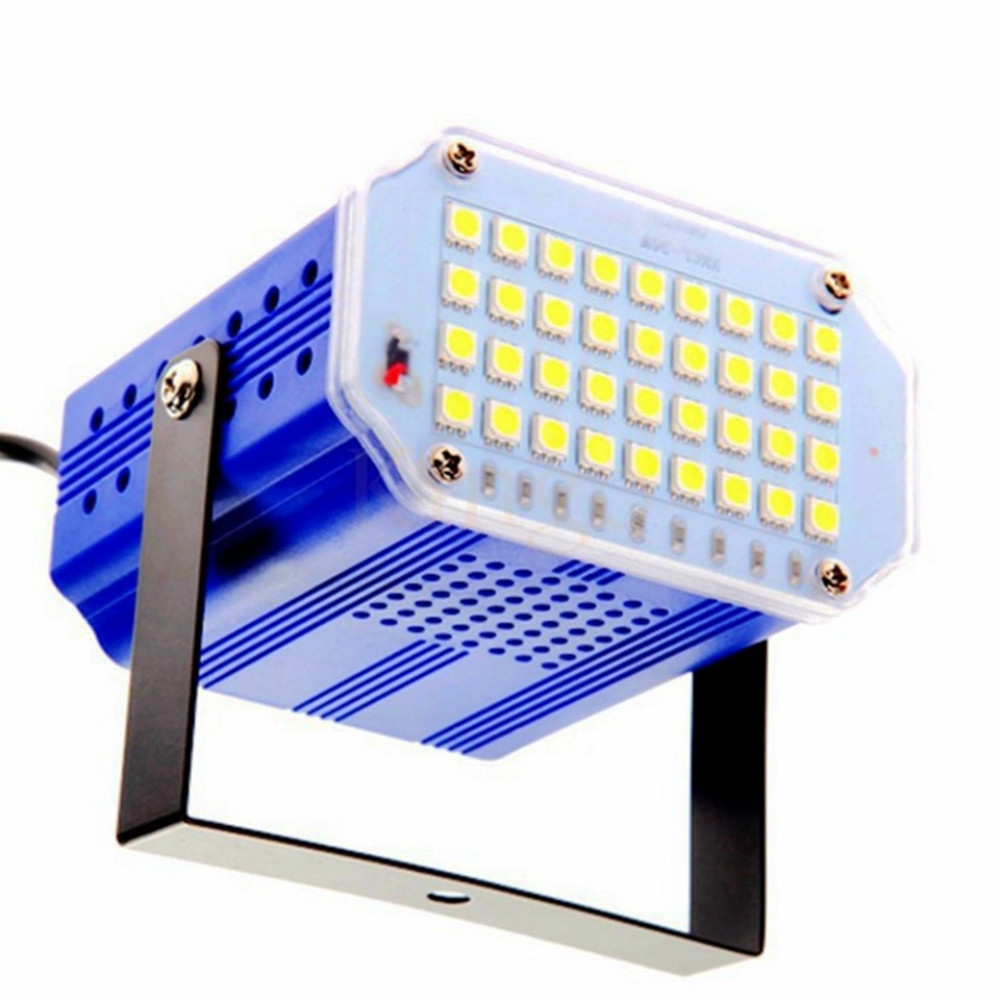 36 LED disco strobe with sound control to create a show effect