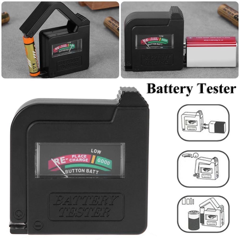 Universāls AA, AAA, C, D, 9V krona bateriju testeris