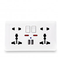 Universal dual outlet 220V with 2 x USB