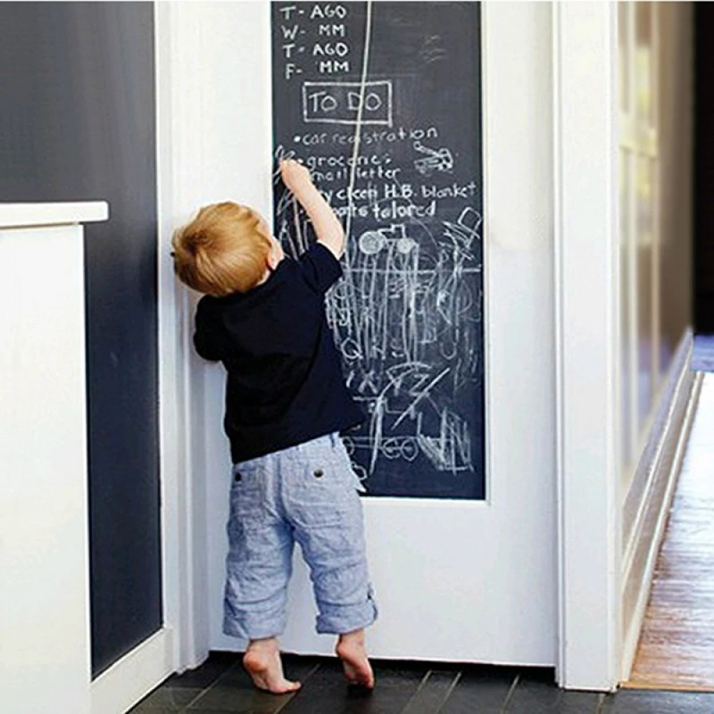 Chalkboard 200 cm x 45 cm Blackboard Wall Sticker Decals Home Decor Vinyl Art New