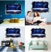 Istabas sienas vai gridas dekors - logs kosmosā