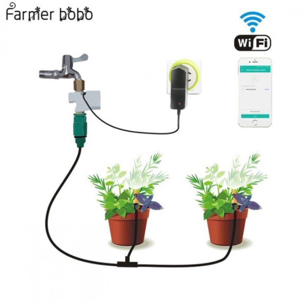 Pilienveida dārza apūdeņošanas sistēma ar kontroli no viedtālruņa aplikācijas - dārza laistīšanas taimeris