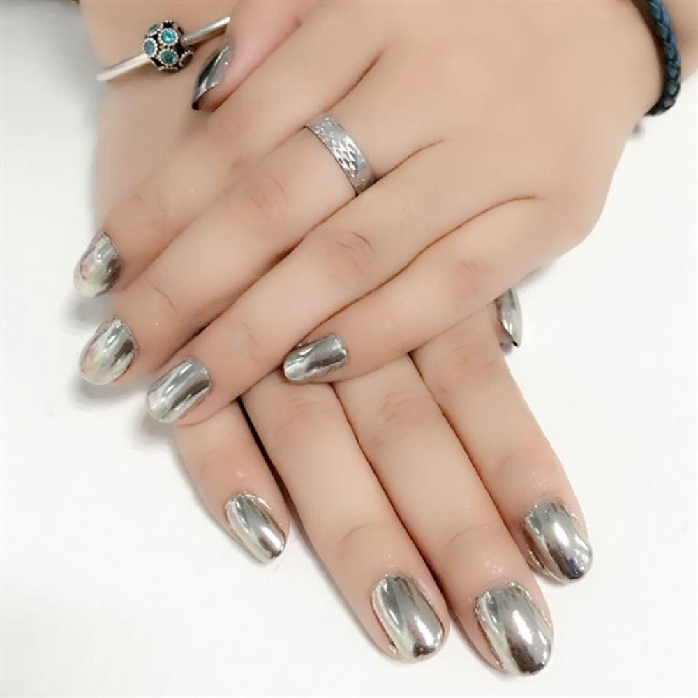 Heavy Metal Biker Chrome nagu laka un gels