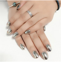 Heavy Metal Biker Chrome nail polish gel