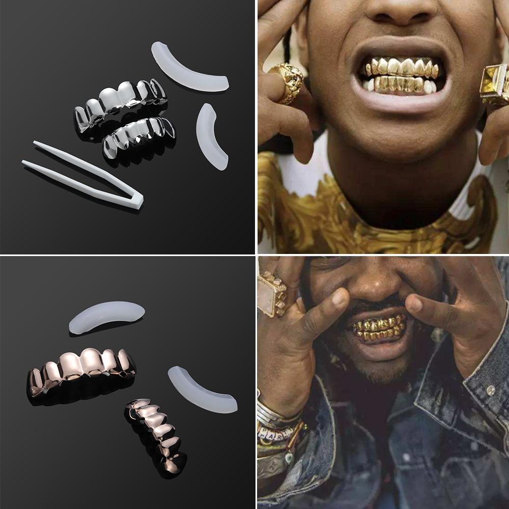 Stīlīgs Hip-hop aksesuārs Grillz - Grils uzlikas zobiem, abiem žokliem