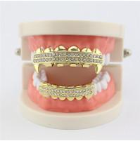 Hip-hop Grillz ar diamantu inkrustācijas imitāciju - Grils uzlikas zobiem, abiem žokļiem