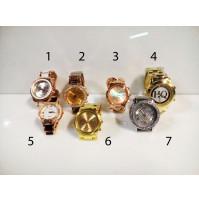 Stīlīgs sieviešu rokas pulkstenis HQ ar metālisku siksniņu