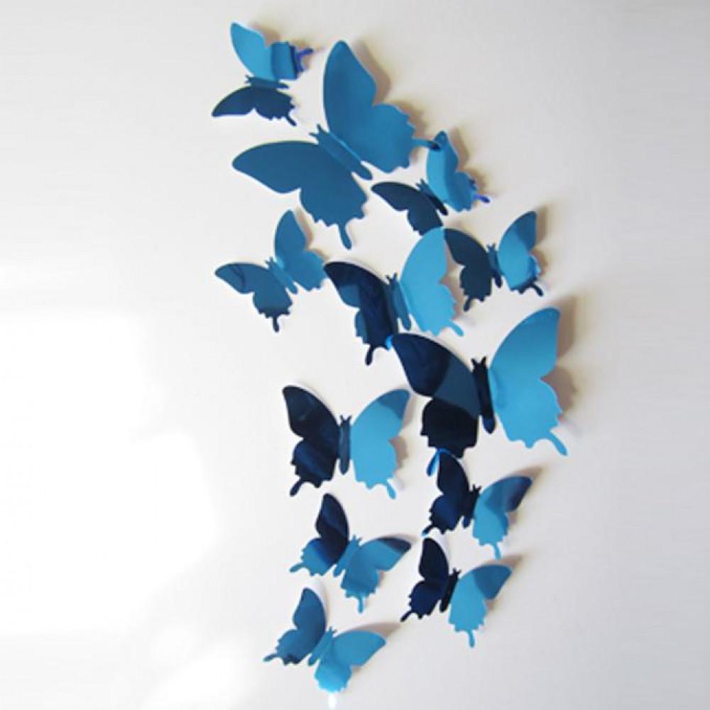 Istabas vai kabineta sienas dekors - 3D taureņu - uzlīmju komplekts