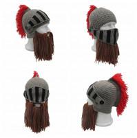 Hairy Knight Beard Knit Cap Wind Mask