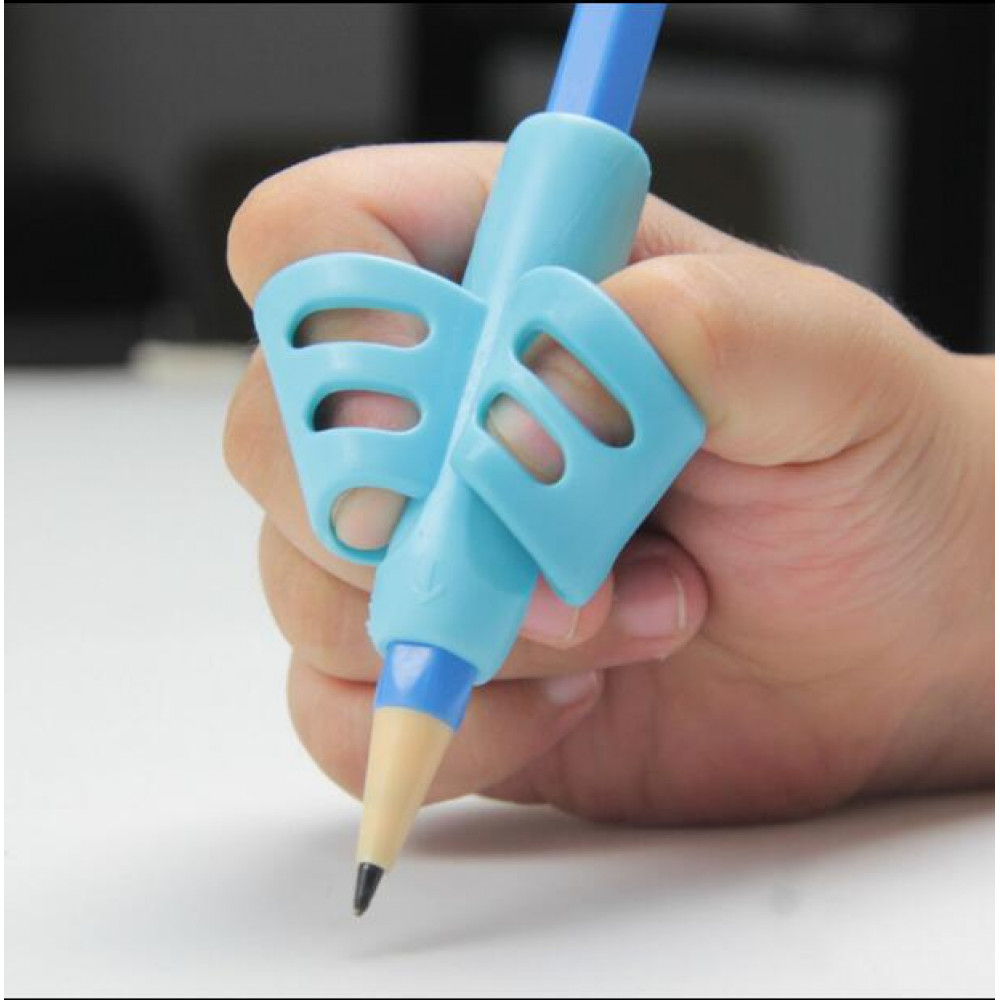 Two-Finger Grip Silicone Baby Learning Writing Tool Writing Pen Writing Correction Device