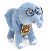 Soft toy Little Elephant from 38 parrots cartoon with RUSSIAN CHIP