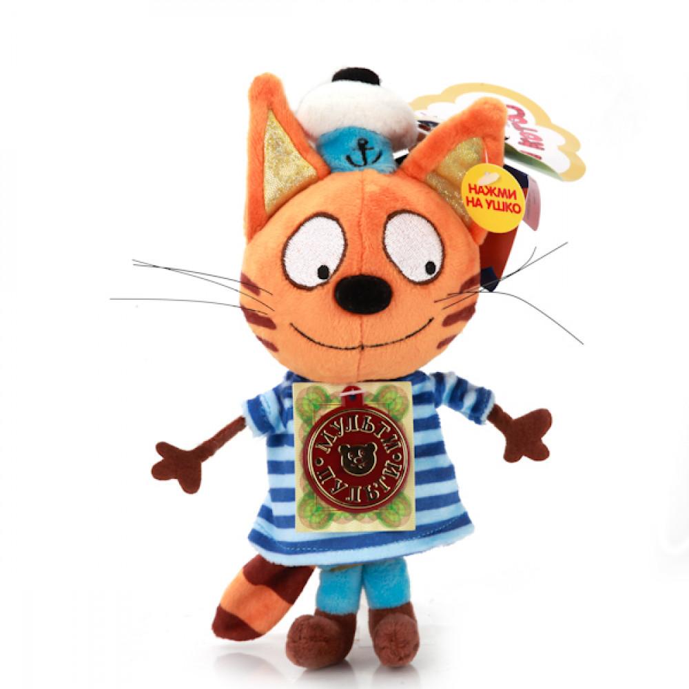"""Mīkstā rotaļlieta Multi-Pulti - Kaķis Rausis no multfilmas """"3 kaķi""""ar krievu balss čipu"""