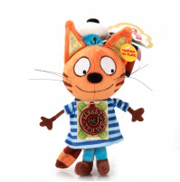 "Cookie the Cat soft Toy from ""3 cats"" Cartoon with russian chip"