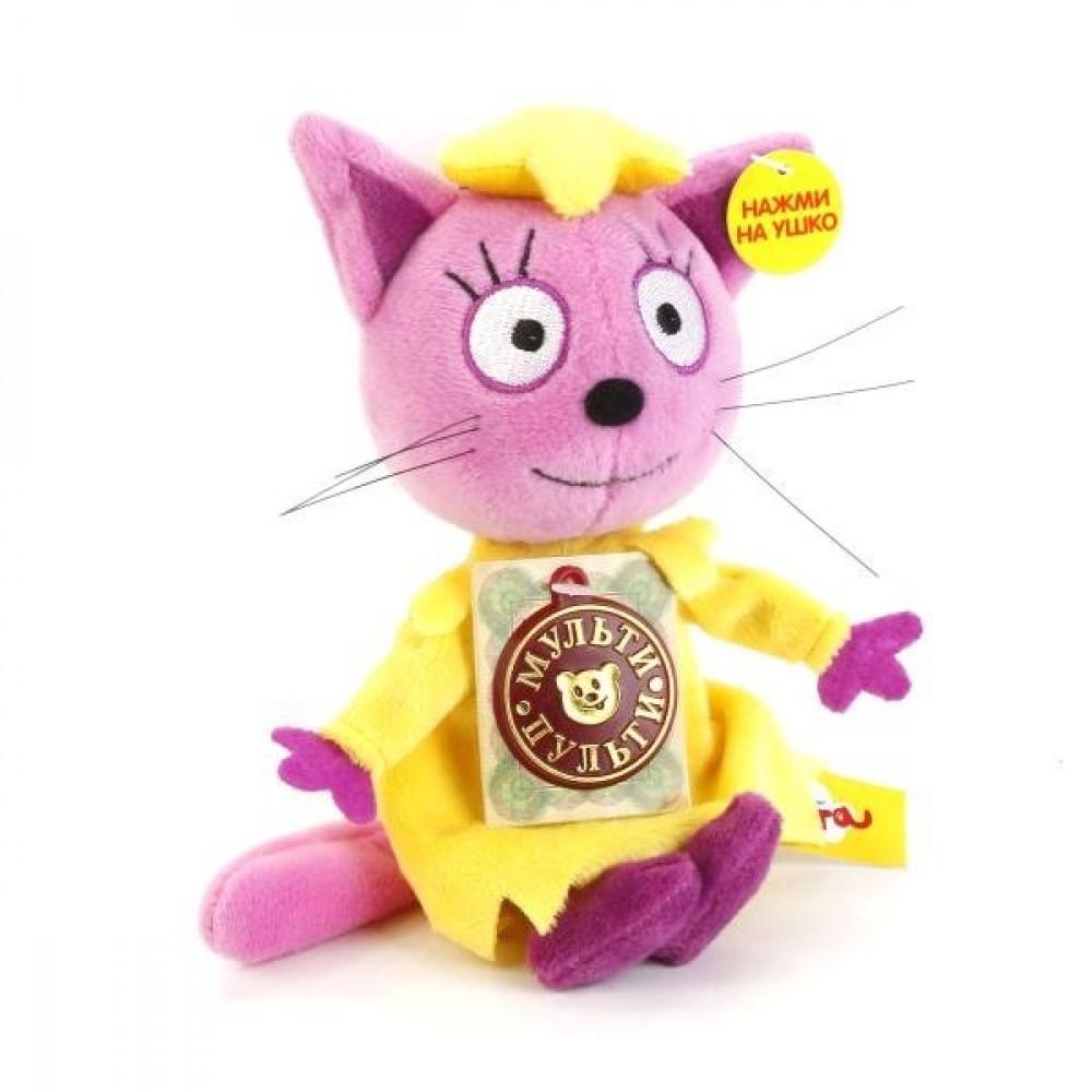 """Mīkstā rotaļlieta Multi-Pulti - Kaķene Ķepiņa no multfilmas """"3 kaķi""""ar krievu balss čipu"""
