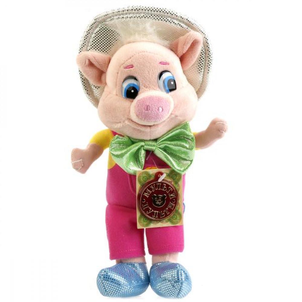 Mīkstā rotaļlieta - sivēns Funtiks no šādi nosauktas multenes ar krievu balss čipu