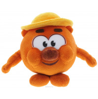 Soft toy Kopatych, 10 cm from Smeshariki series, with RUSSIAN CHIP