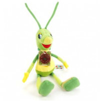 Soft toy Grasshopper Kuzya from Luntik series, with RUSSIAN CHIP