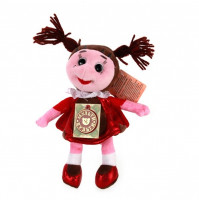 Soft toy ladybird Mila, 21 cm from Smeshariki series, with RUSSIAN CHIP
