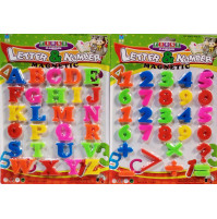 Developing set of magnetic letters and numbers