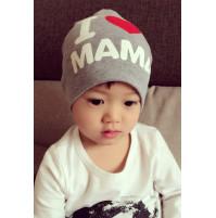 """Baby cap """"I love mama / papa"""