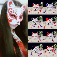 Japan Theatre Kitsune Fox Face Mask
