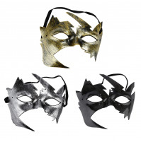 Venetian Carnival Half Mask - tree leaves for Mardi Gras masquerade