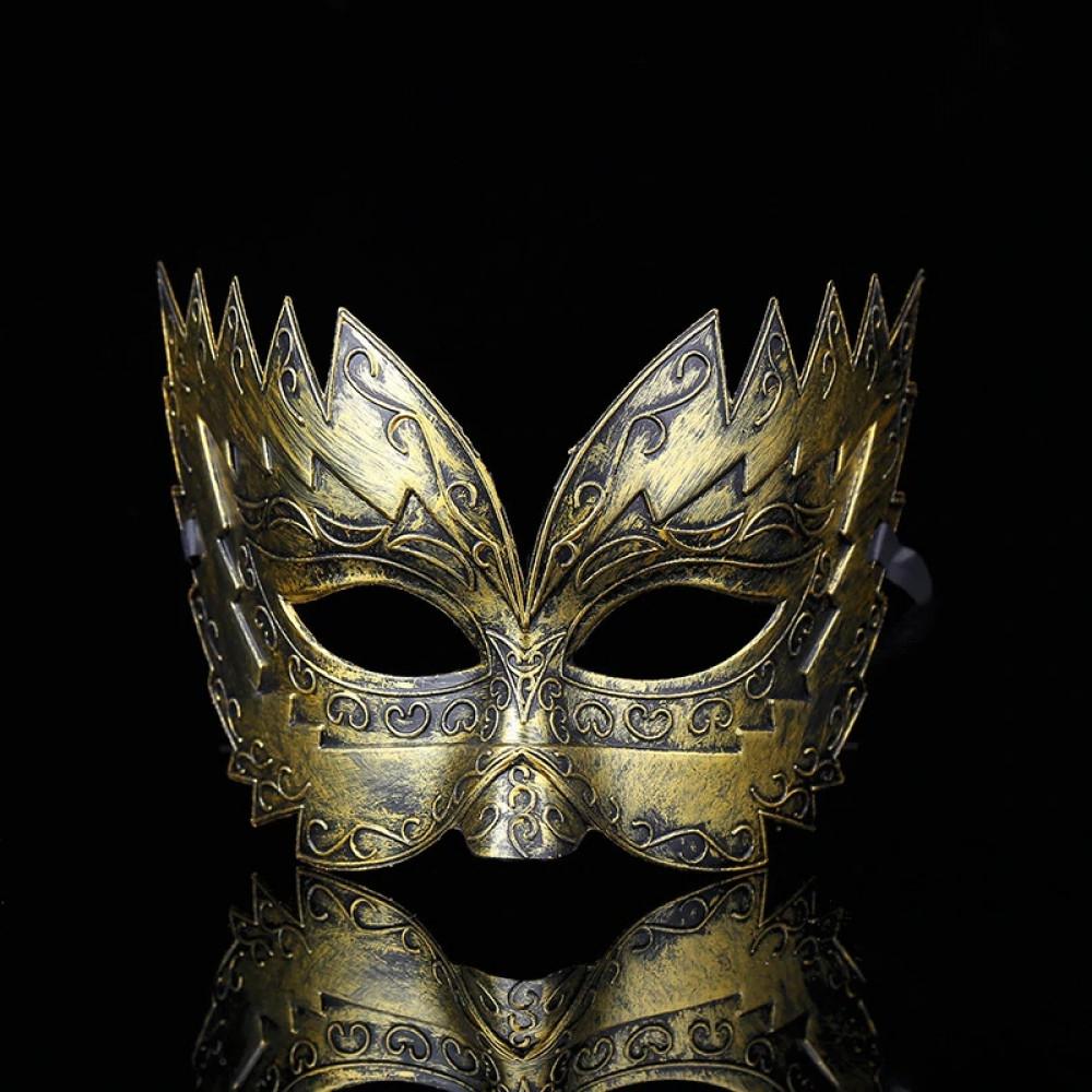 Classic Men Metal Plated Ancient Roman Army SPQR Legionnaire Half Mask