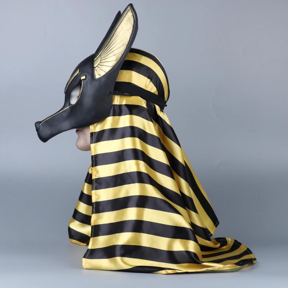 Stylish Egyptian Wolf God Anubis Mask with head scarf