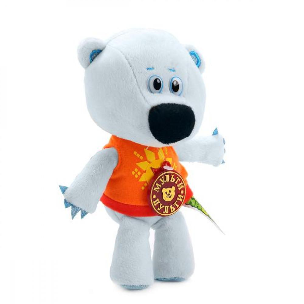 Mīksta rotaļlieta lācēns Balts mākonītis no multenes Mimimiškas, ar krievu balss moduli