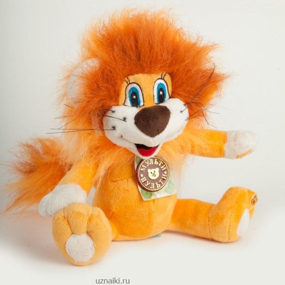 Mīksta rotaļlieta Lauvēns no multenes Lauvēns un bruņurupucis, ar krievu balss moduli